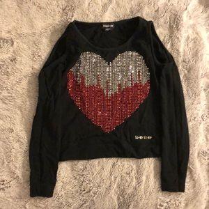 Bebe size xs cold shoulder sweatshirt